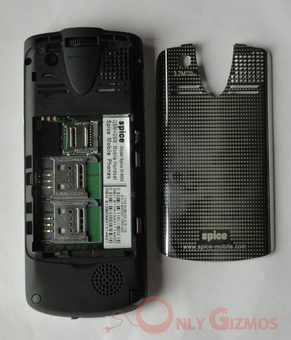 Spice (M9000) Popkorn Projector Phone Review