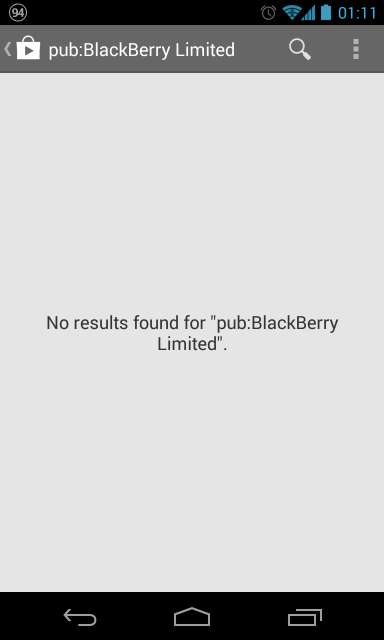 Blackberry Limited not found!