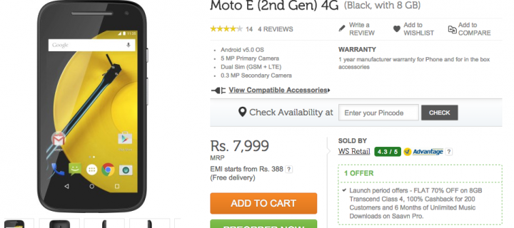 Airtel, Motorola Joins Hands Together; Brings Out Moto E (2nd Gen)