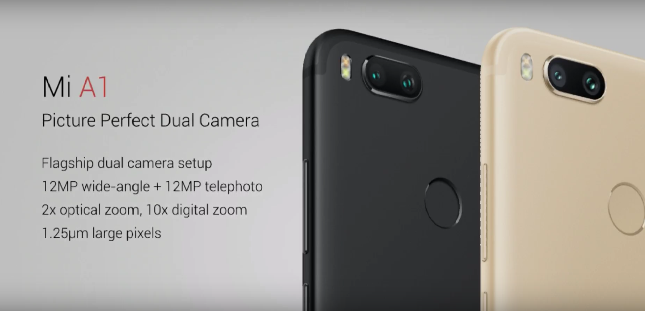 Xiaomi Mi A1 is Official with Topnotch Dual Cameras, Premium Design