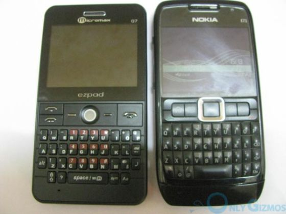 Micromax Q7 and Nokia E71