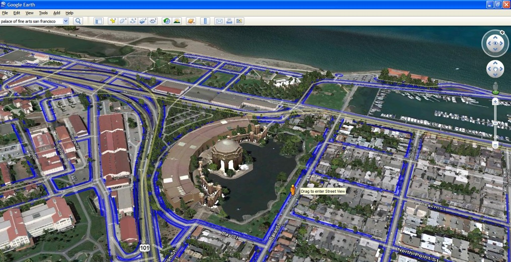 google launches new version of google earth with 3d trees and integrated street view