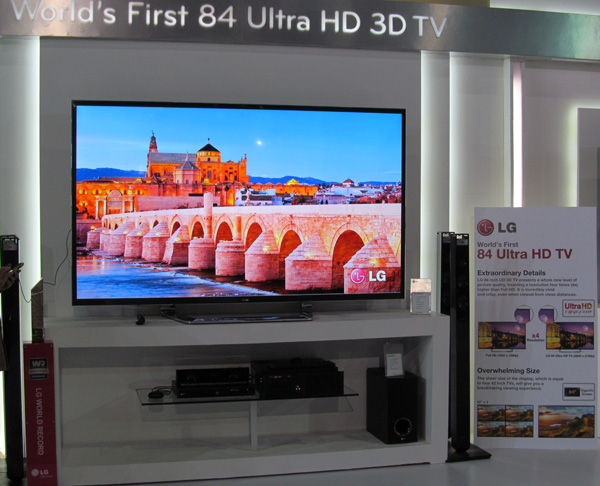 LG 84 inch LM8600 Ultra HD 3D TV