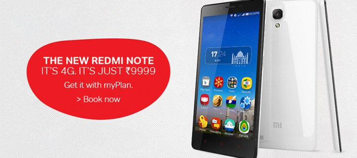 Xiaomi Redmi Note 4G Now Available Through Airtel