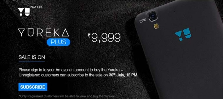 Yu Yureka Plus Sold Out 50,000 Units In First Sale on Amazon India
