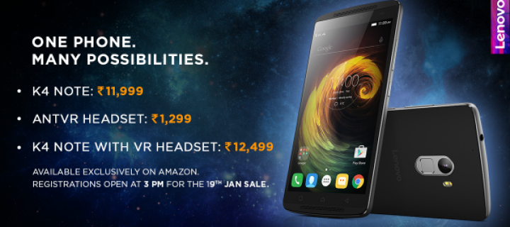 Lenovo K4 Note launched for Rs. 11,999