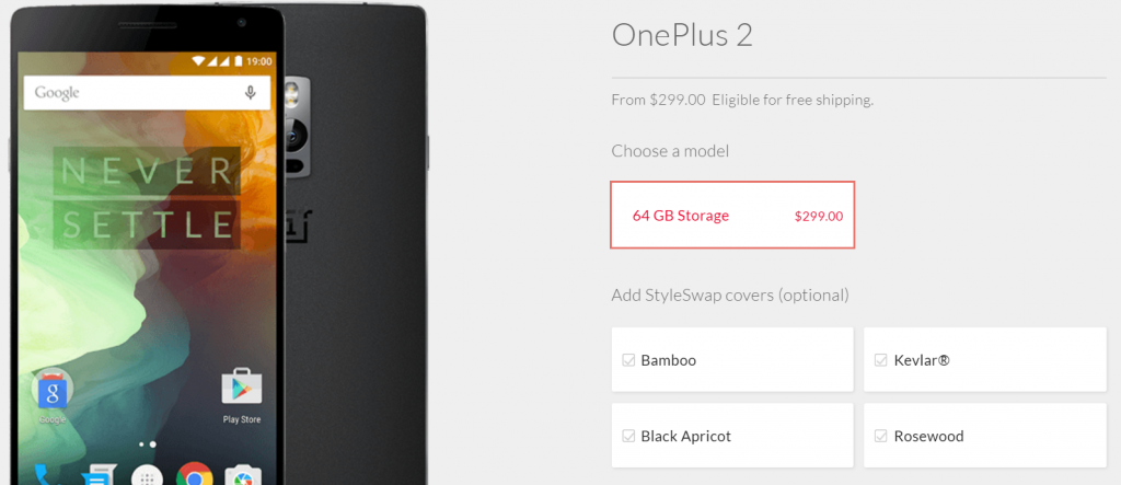OnePlus 2 new price