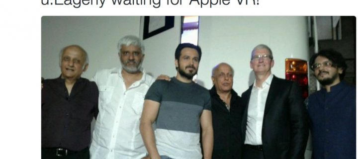 Did Tim Cook Speak About Apple VR to Emraan Hashmi