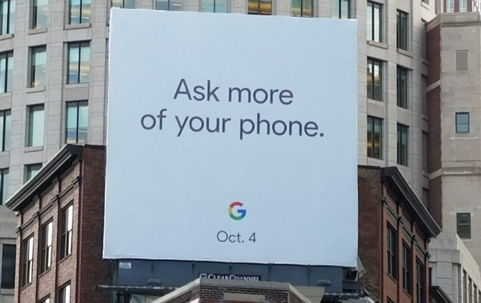 Google Pixel 2 Billboard October 4 Event