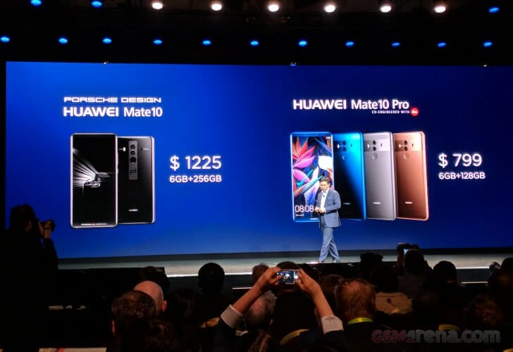 Huawei Mate 10 Pro and Mate 10 Porsche Design Pricing for US